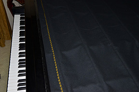string cover in place